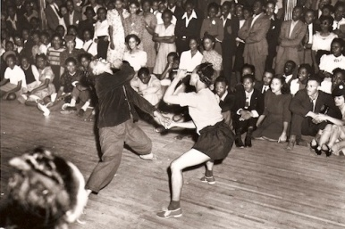 Dancers get limber at the Savoy Ballroom, circa 1930s. Courtesy kexp.org